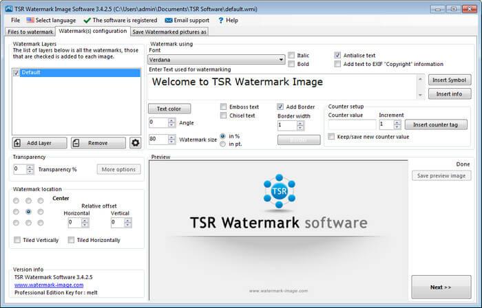 tsr-watermark-keygen
